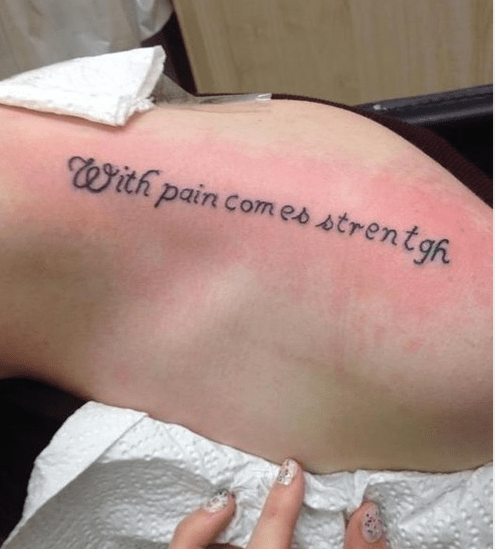 bad funny tattoos pain - 7932778496