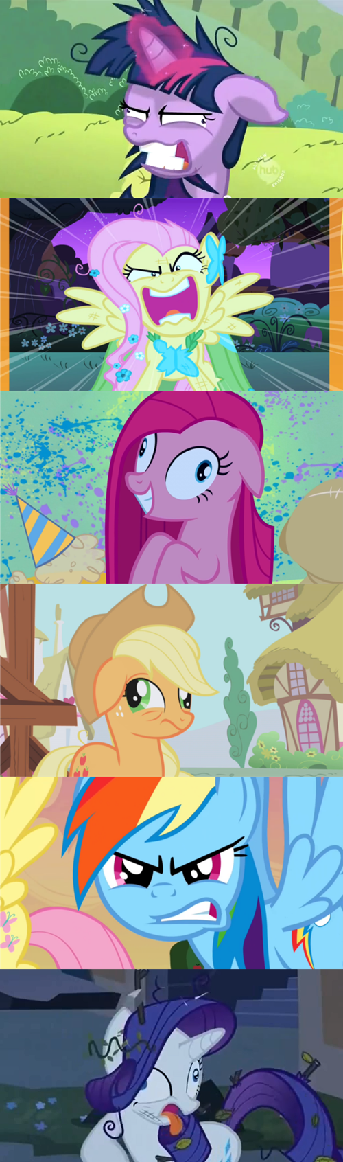 crazy faces mane 6 - 7932967424