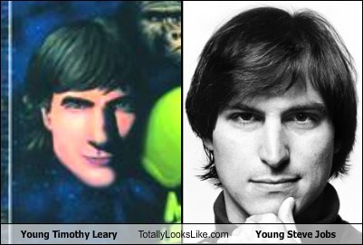 funny,totally looks like,steve jobs,timothy leary