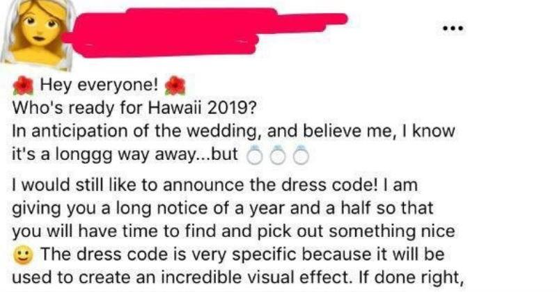 bride cringe facebook wedding social media ridiculous - 7933445