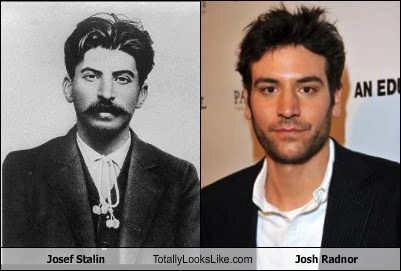 josef stalin funny totally looks like josh radnor - 7933639680