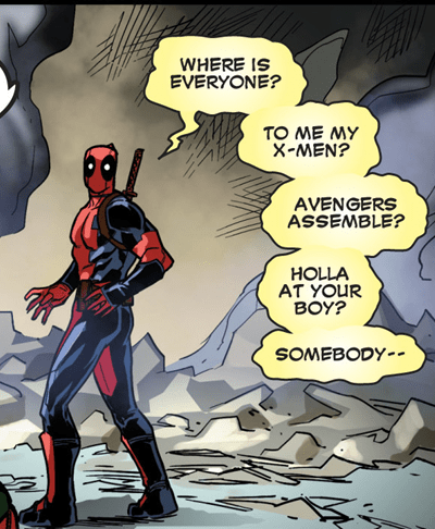 assemble deadpool solo off the page - 7934412032