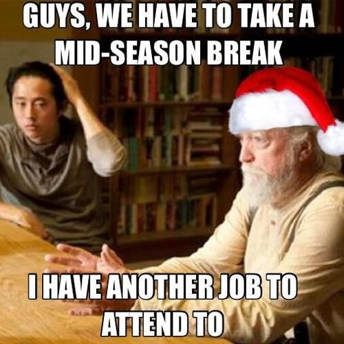 christmas,hershel greene,santa clause,The Walking Dead,mid season