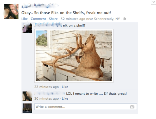 autocorrect,elf on the shelf,elks,facebook,AutocoWrecks