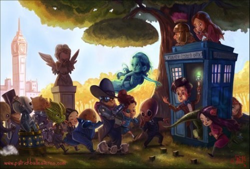 Fan Art,cute,doctor who,chibi