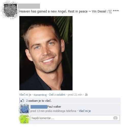 vin diesel paul walker Fast and Furious paul walker death failbook g rated - 7934624000