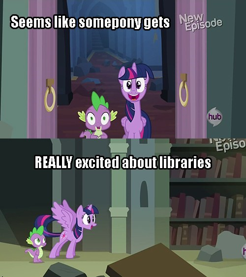 spike,twilight sparkle,wingboner,library