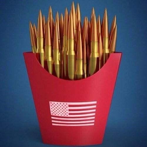 guns,bullets,french fries,freedom fries