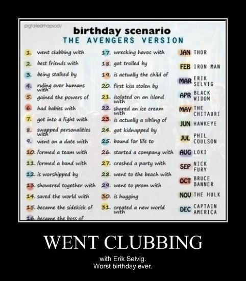 horrible birthday funny avengers - 7934774016
