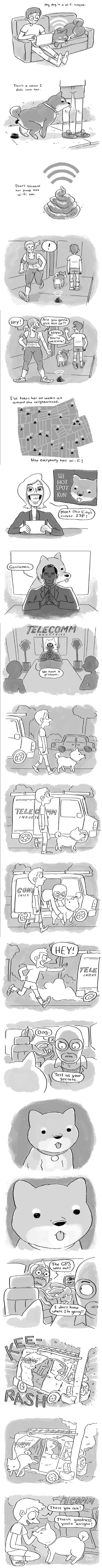 dogs wi-fi funny web comics - 7934861312
