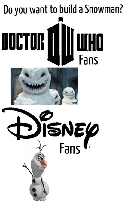 disney doctor who winter frozen snowman