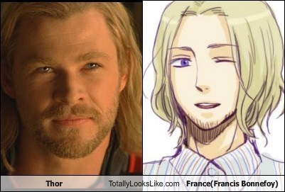 Thor Totally Looks Like France(Francis Bonnefoy)