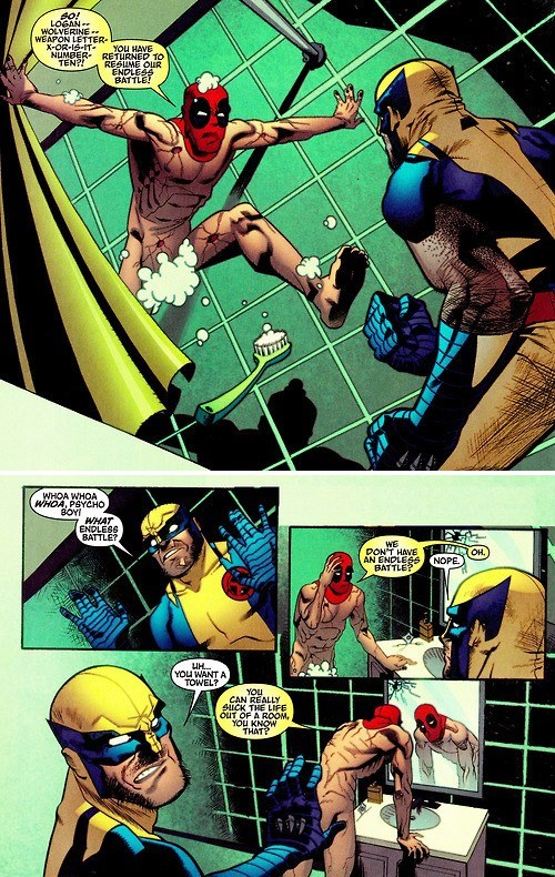 Battle,deadpool,off the page,wolverine