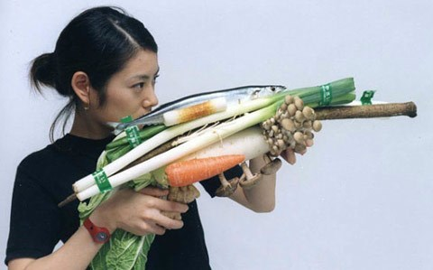 guns,Japan,funny,wtf,vegetables
