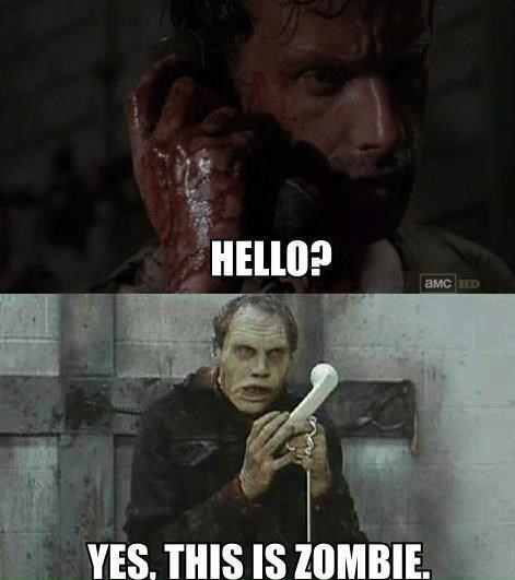 Rick Grimes zombie phone call - 7935048960