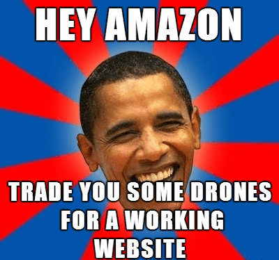 amazon drones obamacare obama - 7935073024