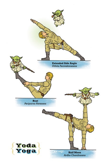star wars,yoda,yoga