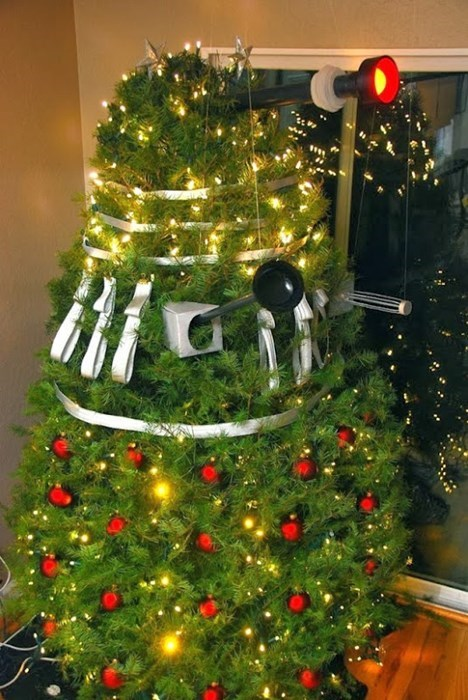 dalek,doctor who,christmas tree,funny,nerdgasm