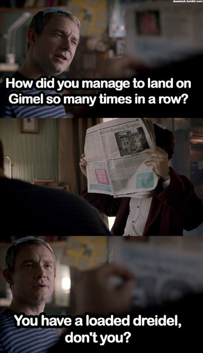 dreidel television hanukkah Sherlock - 7935211776