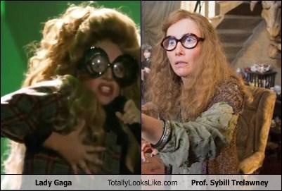 lady gaga funny totally looks like sybill trelawney