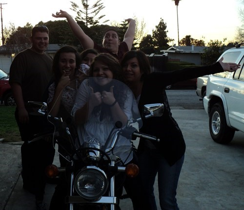 motorcycles,photobomb