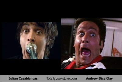 Julian Casablancas,totally looks like,andrew dice clay