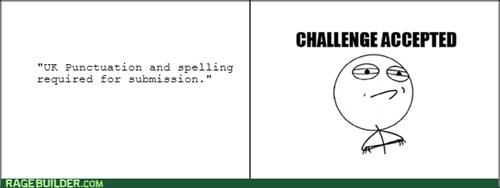 grammar Challenge Accepted spelling - 7935718400