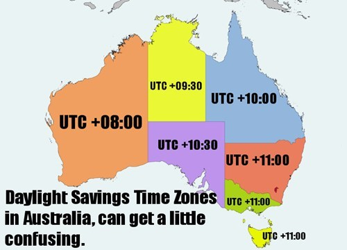daylight savings australia map