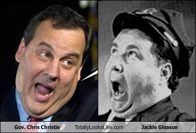 Chris Christie totally looks like jackie gleason