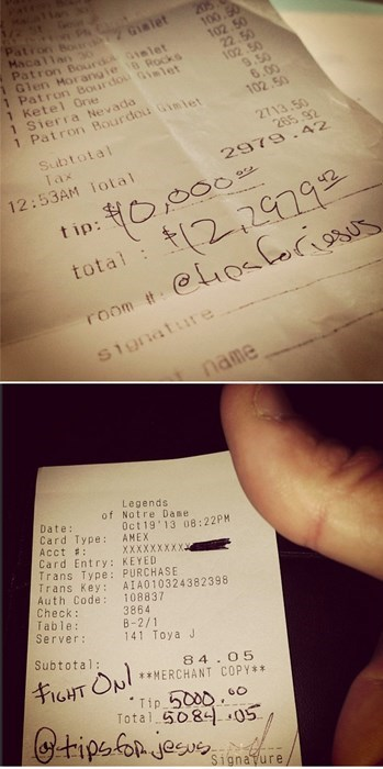 random act of kindness,uproxx,tipping,restoring faith in humanity week,server,restaurant