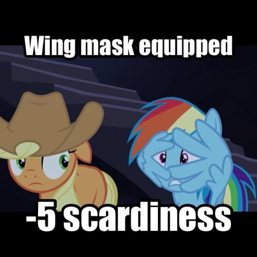 Wing mask equipped!