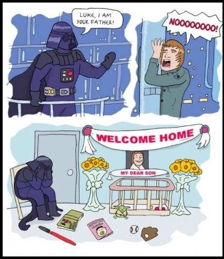 star wars,daddy issues,darth vader,web comics