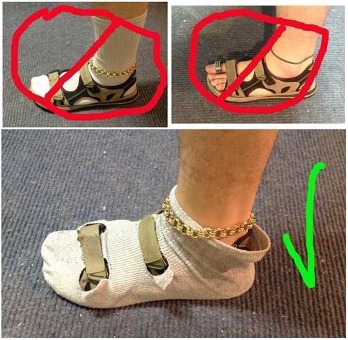 fashion socks sandals - 7936291328
