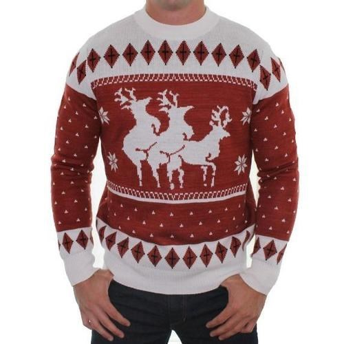 christmas reindeer sweater - 7936292352