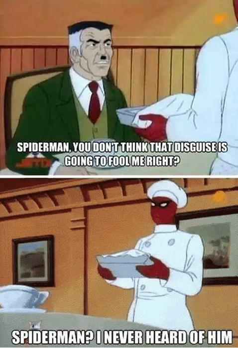 J Jonah Jameson,Spider-Man,diguise