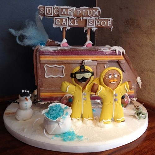 breaking bad christmas gingerbread houses - 7936461568