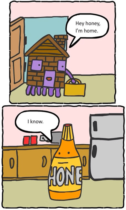 home honey puns web comics - 7936507904
