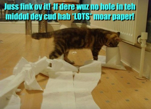 Cats cute genius toiletpaper - 7936540928