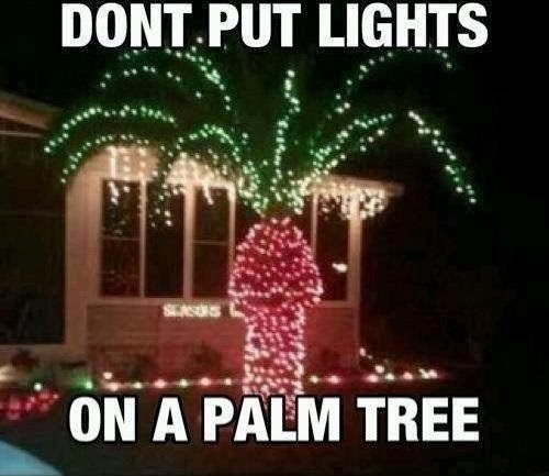 accidental sexy dude parts christmas decorations christmas lights Palm Tree - 7936557824