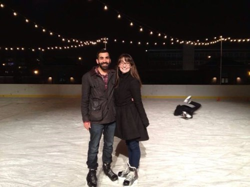 ice skating,photobomb