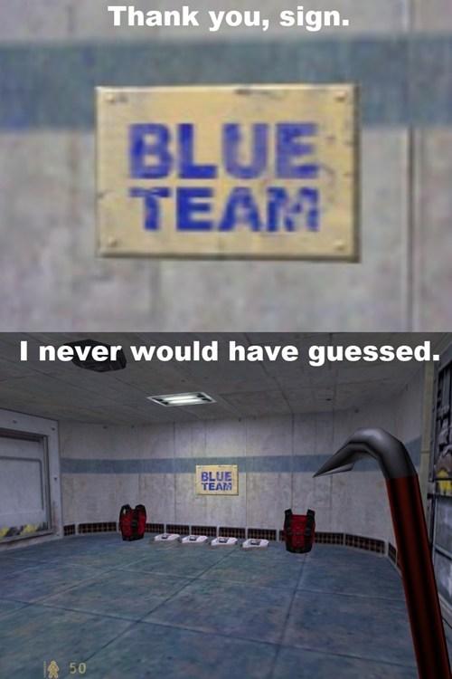 blue team signs - 7936711424