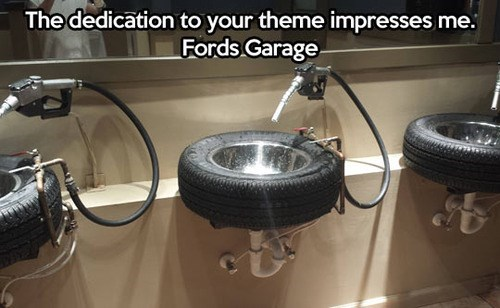 cars bathrooms ford tires