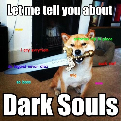 dark souls,Memes,shibe,doge