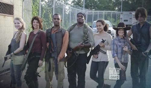 behind the scenes The Walking Dead stunt doubles