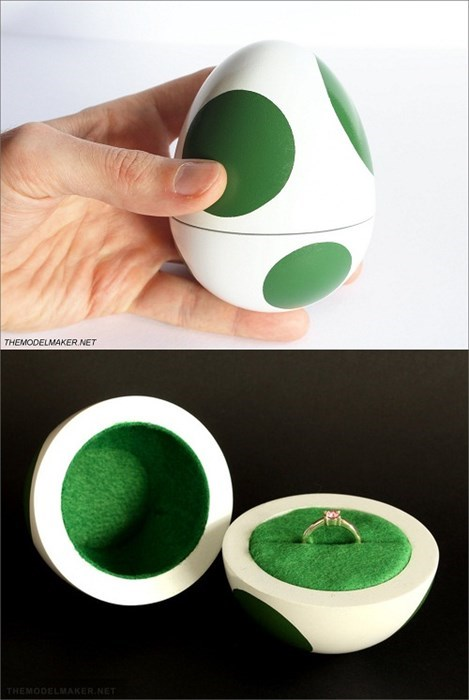 nerdy mario marriage yoshi engagements engagement ring boxes - 7936753664