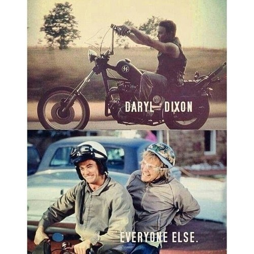 daryl dixon,Dumb and Dumber,motorcycle