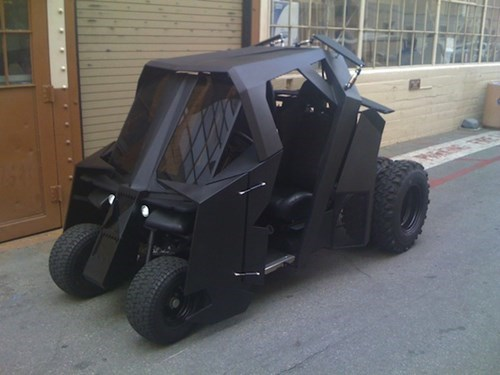 Hit the Links With This Batmobile Golf Cart