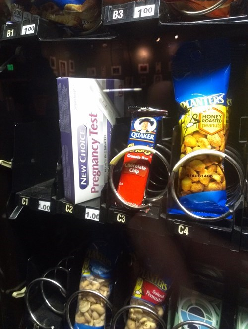pregnancy,vending machine,pregnancy test