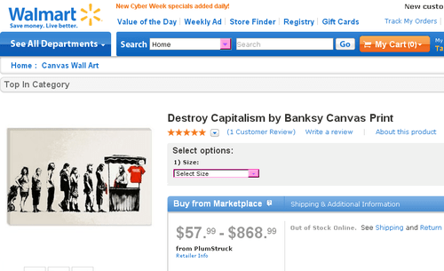 banksy Street Art Walmart irony g rated fail nation - 7937000448