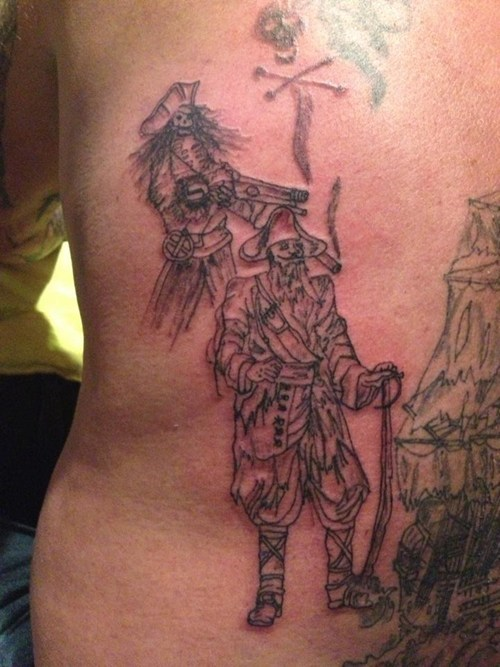 bad,pirates,tattoos,g rated,Ugliest Tattoos